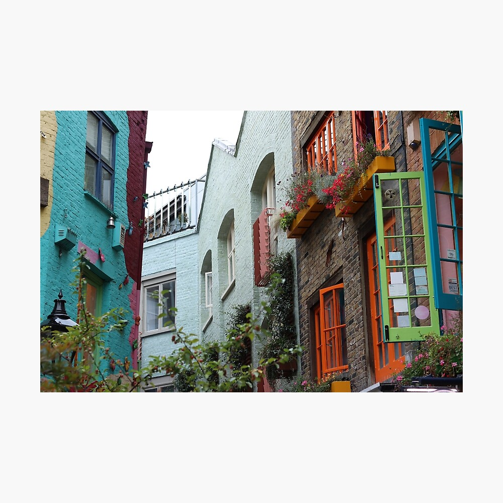 The colourful houses of Neil's Yard, London Photographic Print