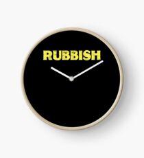 Rubbish Funny T-Shirt Tee Shirt That Says Rubbish Clock