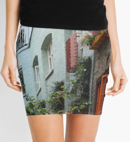 The colourful houses of Neil's Yard, London Mini Skirt