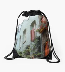 The colourful houses of Neil's Yard, London Drawstring Bag