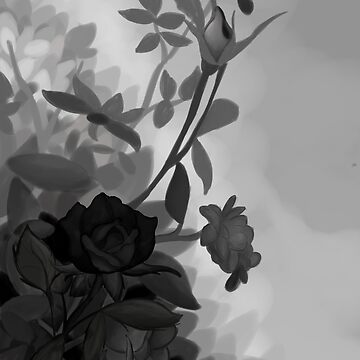 Monochrome Flower bush by CuriKnight5
