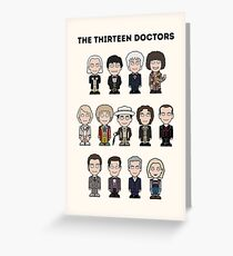 The Thirteen Doctors Greeting Card