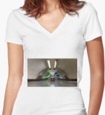 Bank Station Women's Fitted V-Neck T-Shirt