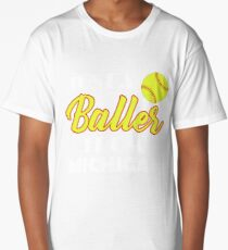 Just A Baller From Michigan Long T-Shirt