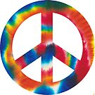 Tie Dye Peace Sign by shinypennyart
