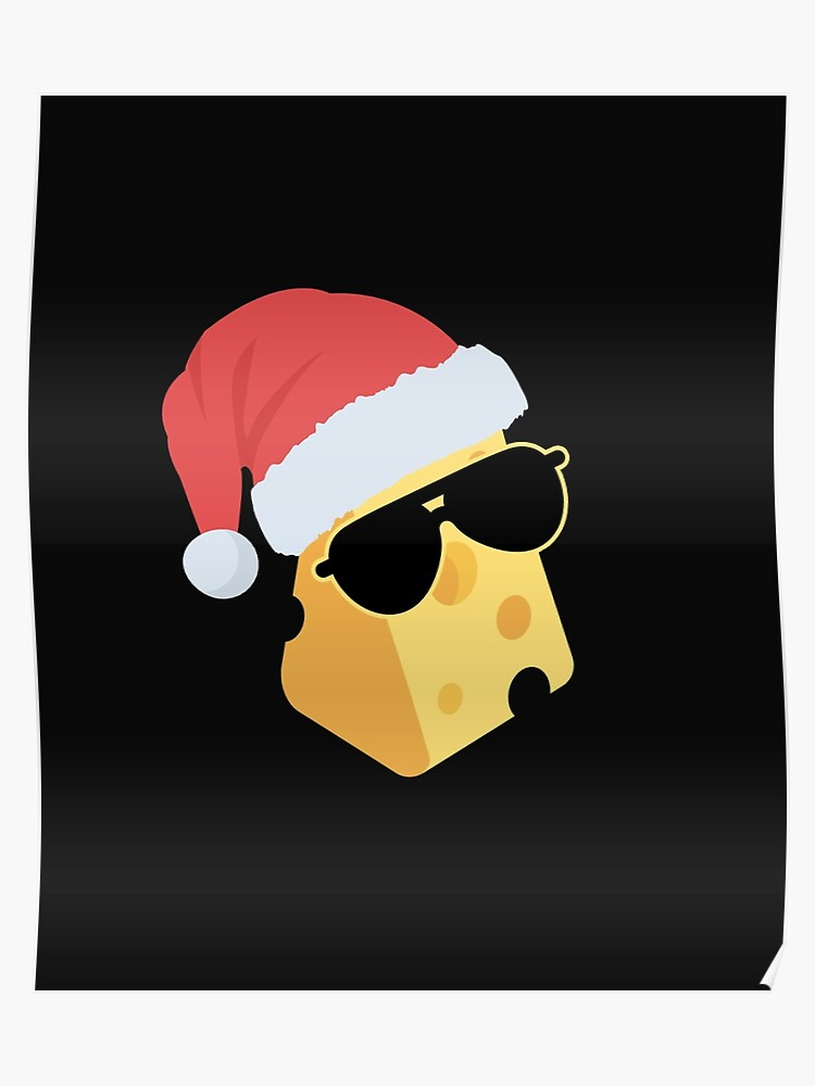 Christmas Humor Images.Funny Christmas Humor Swiss Cheese Sunglasses Santa Hat Poster