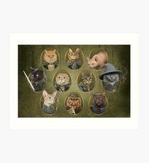 Cat of the Rings Art Print