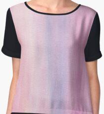Pink Watercolor Texture Chiffon Top
