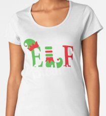 Brother Elf Matching Family Christmas Pajama Women's Premium T-Shirt