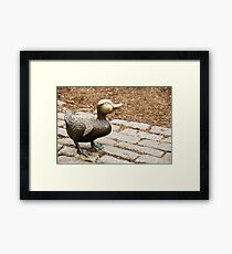 Little Bronze Duck Framed Print