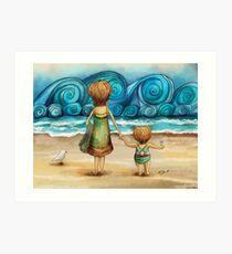 Beachcombers Art Print