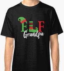 Grandpa Elf Matching Family Christmas Pajama Classic T-Shirt