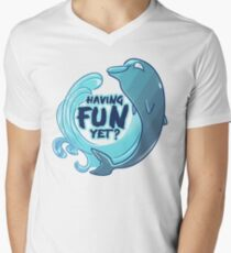 Existentiwhale: Having Fun? V-Neck T-Shirt