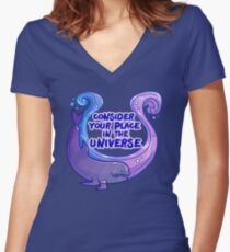 Existentiwhale: Consideration Fitted V-Neck T-Shirt