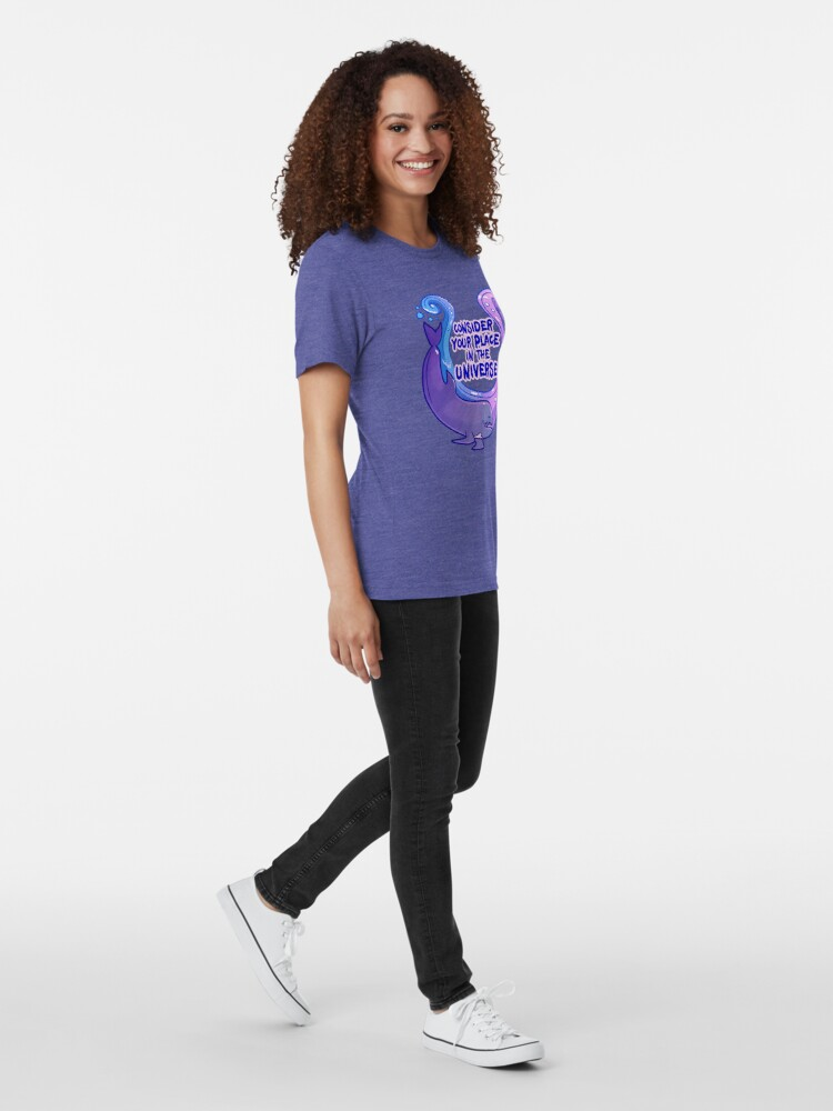 Alternate view of Existentiwhale: Consideration Tri-blend T-Shirt