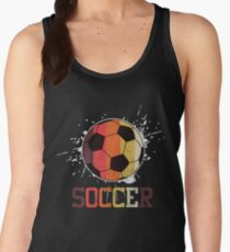 Soccer Retro Athlete Football Sports Team Athletic Player Gifts Women's Tank Top