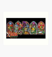 Lámina artística La leyenda de Zelda- Cuatro espadas