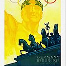Brandenburg Gate. Berlin 1936 tourism poster by edsimoneit