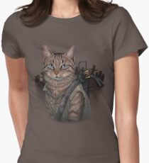 Daryl Dixon Cat Women's Fitted T-Shirt