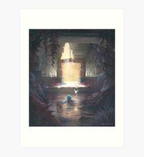 Der Wassertempel Kunstdruck