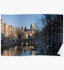Amsterdam Brown Poster