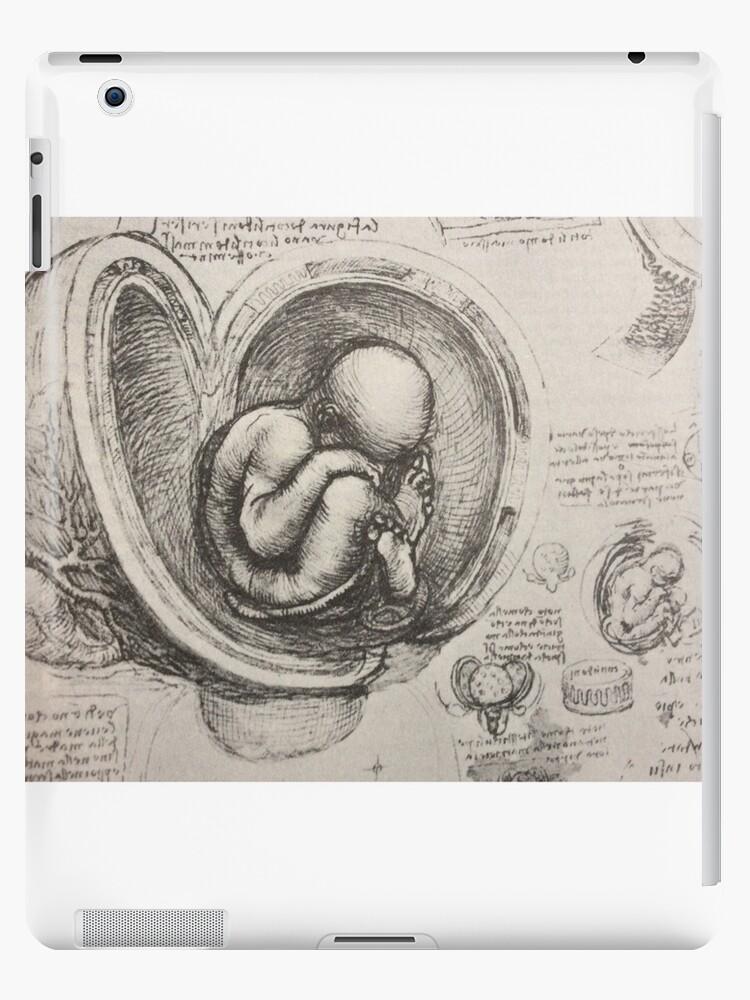 Leonardo Da Vinci Study On Embryology Ipad Cases Skins By Tonbbo