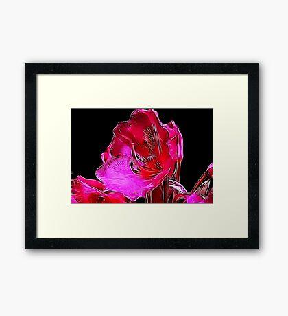 Fractual Bloom Framed Print