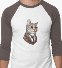 10th Doctor Mew 3D Glasses Men's Baseball ¾ T-Shirt