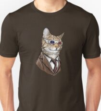 10th Doctor Mew 3D Glasses Slim Fit T-Shirt