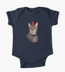 11th Doctor Mew Short Sleeve Baby One-Piece