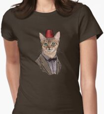 11th Doctor Mew Fitted T-Shirt