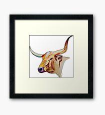 Watercolor Longhorn Framed Print