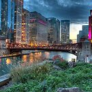 Chicago Goes Pink on the River by Adam Bykowski