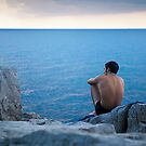 Sicilian watching sunset by Neil Buchan-Grant