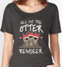 All of the Otter Reindeer Women's Relaxed Fit T-Shirt