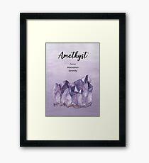 Crystal Wishes- Amethyst Framed Print
