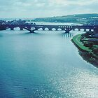 The road bridges from the railway viaduct at Berwick England 19840920 0043 by Fred Mitchell