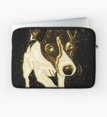 Dog funny golden Gold Laptop Sleeve