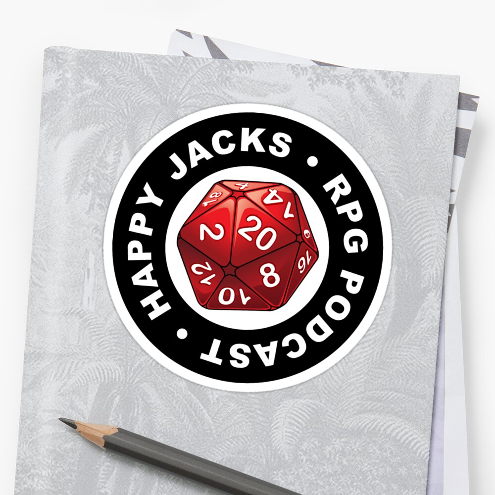 Happy Jacks RPG Logo Stickers