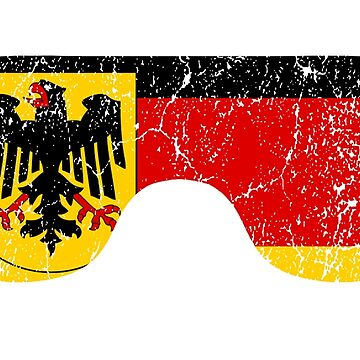 German Goggles White Frame Distressed | Goggle Designs | DopeyArt by DopeyArt