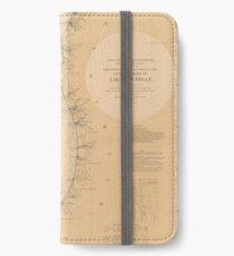 Vintage Map of Lake Michigan (1898) iPhone Wallet/Case/Skin