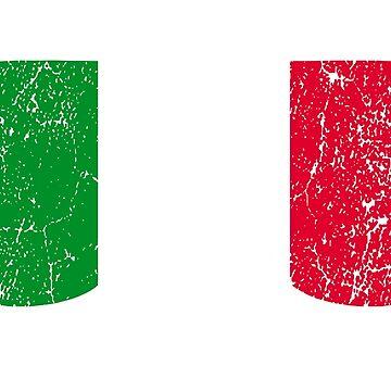 Italian Goggles White Frame Distressed | Goggle Designs | DopeyArt by DopeyArt
