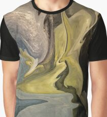 Liquid Color Abstract Graphic T-Shirt