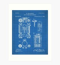 First Computer Patent - Technology Art - Blueprint Art Print