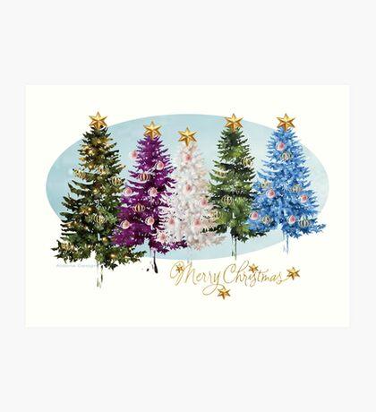 Christmas trees (986 Views) Art Print