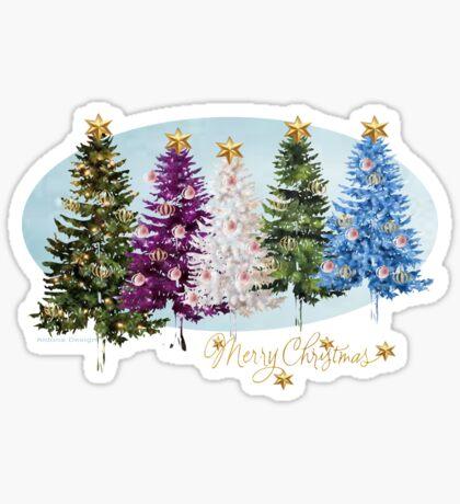 Christmas trees (986 Views) Sticker