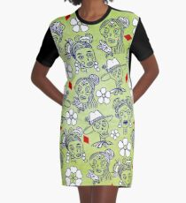 I Want Your Skull Graphic T-Shirt Dress