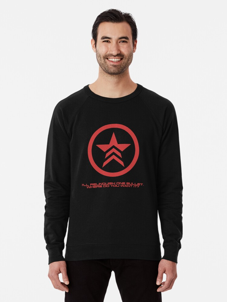 Mass Effect Commander Shepard Renegade Quote Lightweight Sweatshirt By Surik