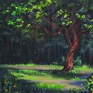 """""""Free Spirit"""" Tree painting by Karen Ilari"""