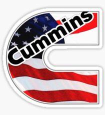 Cummins Flag US Sticker